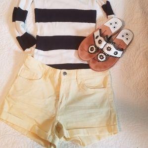 H&M Shorts - H&M yellow jean shorts nwot